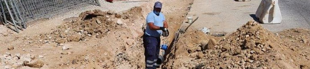 Remodelação da rede de abastecimento de água na Avenida dos Missionários no Cacém